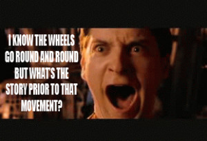 New meme - Tobey Maguire yells quotes from obscure British comedies