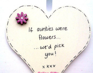 ... flowers i'd pick you best auntie gift heart hanging heart decoration