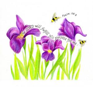 Scripture Art Busy Bees Inspirational Bible Verse Print