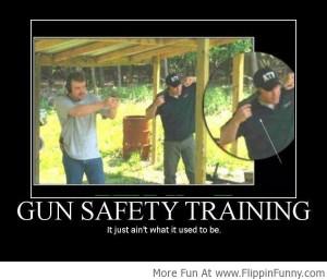Gun Safety Training Fail!