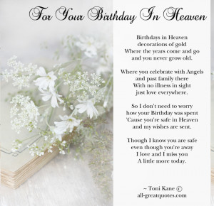 Birthday In Heaven Cards – For Your Birthday In Heaven