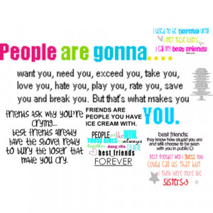 Awesome Friend Quotes Plus A tree of stuff of wonderin'! :3 - Polyvore