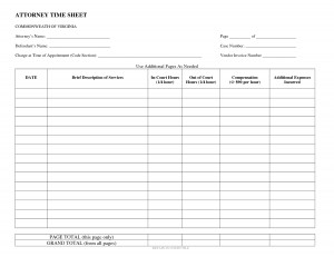 attorney time sheet template