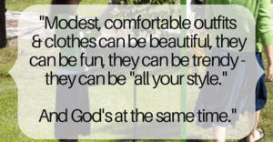 Modesty Quote from Christian Blog for Women