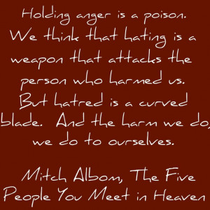 Love this book!!! ~Mitch Albom quote from The Five People You Meet in ...
