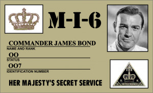 My name is BOND. James Bond