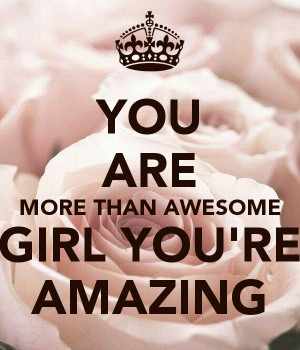 Think You Are Amazing Person