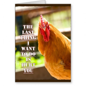 Funny Chicken/Rooster Quote Notecard Greeting Cards