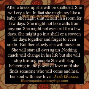 quotes about moving on after a break up