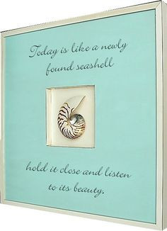 Seashell... Natural Nautilus Shell Art and Beach Quote seashell quotes ...