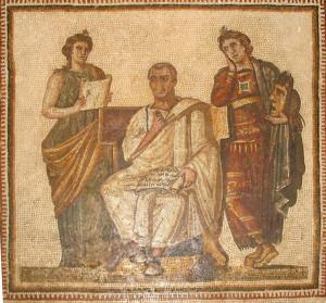 Virgile ecrivant l'Eneide