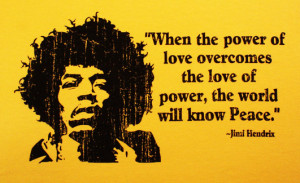 T122 - Power of Love - Jimi Hendrix Quote Unisex T-shirt