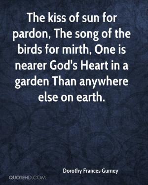 The Kiss Sun For Pardon Song Birds Mirth One