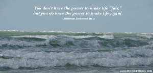 You don't have the power to make life