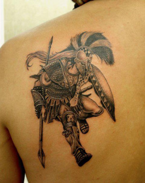greek warrior tattoos