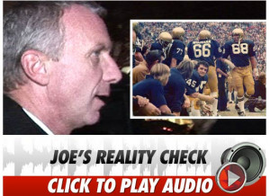 Joe Montana Tears Holes in 'Rudy'
