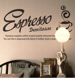 Espresso Demitass Quotes Wall Decals