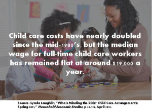 Leaning in with Child Care: A Discussion on Childcare Jobs and the