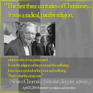 Noam Chomsky Jesus Quote - Pacifism