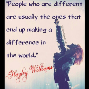 Haley Williams Quote