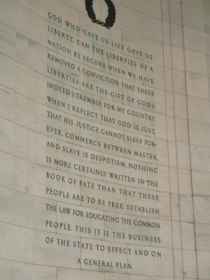 Jefferson Quote God who gave us life - small