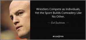 Wrestlers Compete as Individuals, Yet the Sport Builds Comradery Like ...