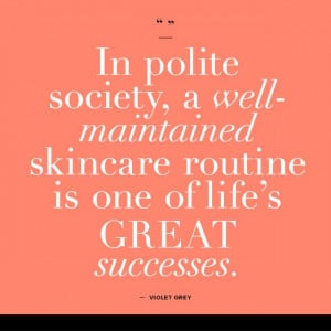 ... GREY | #IPS | in polite society... | beauty quotes | skin care advice