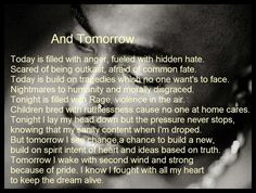 And Tomorrow