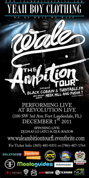 Ambition Tour Featuring: WALE, PUSHA T & MEEK MILL With DJ DAAILO & DJ ...