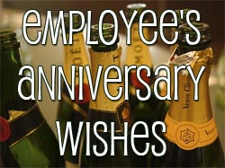 Employee Anniversary Wishes and Messages