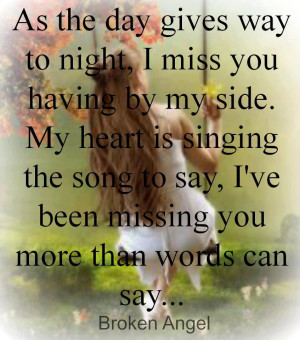 You Are My Angel Quotes My heart is singing the song