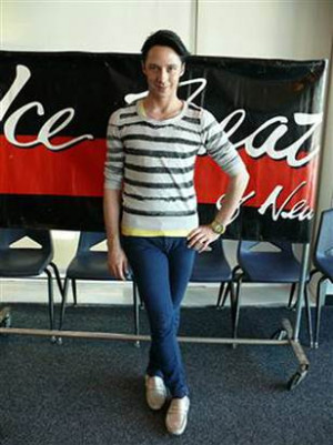 Johnny Weir takes to the rink for a cause
