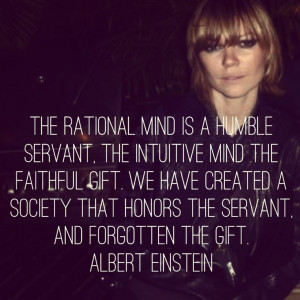 Quote Einstein Mind Conscious Subconscious Gift Servant Great thoughts ...
