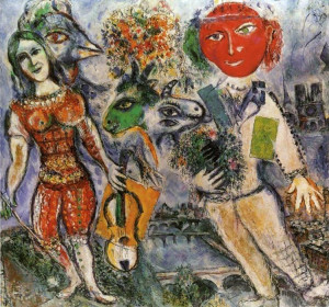 The players 1968 - by Marc Chagall
