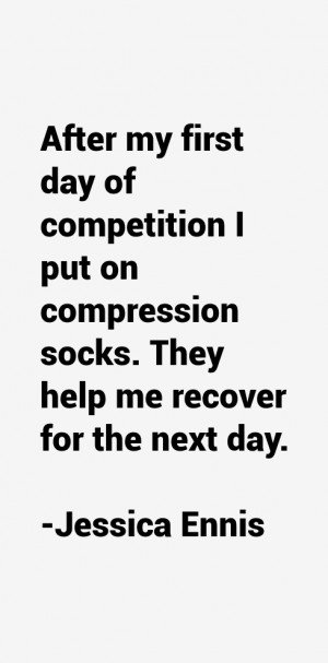 After my first day of competition I put on compression socks. They ...