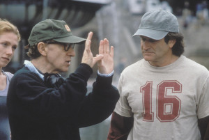 Still of Woody Allen and Robin Williams in Deconstructing Harry (1997)