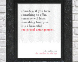 ... art print / book quote // the catcher in the rye; j.d. salinger
