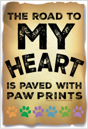 love my dog paw print