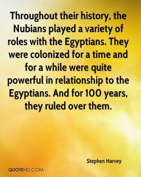 ... relationship to the Egyptians. And for 100 years, they ruled over them