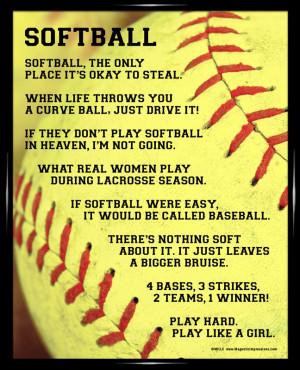 Cute Softball Sayings And softball sayings