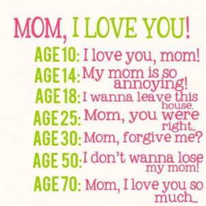 Mom kids love quotes and emotional sayings