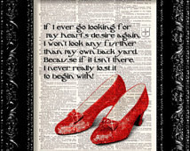 Ruby Slippers - Wizard Of Oz - Doro thys Hearts Desire Quote ...