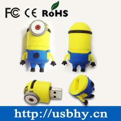 mini gift funny minion usb yellow cartoon characters