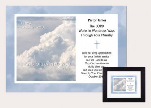 Personalized Pastor Appreciation Plaque: I Have Chosen You...