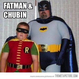 Funny photos funny fat Batman Robin