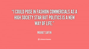 could pose in fashion commercials as a high society star but ...