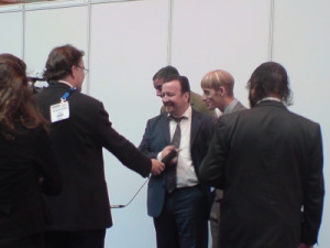 David Brent and Gareth Keenan lookalike Tim Oliver and Brett Sirrell