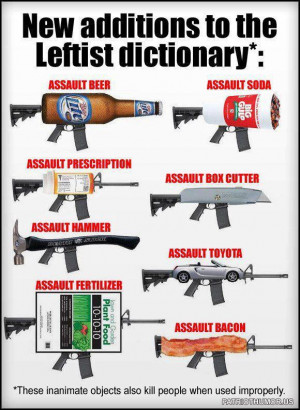 Everything's a weapon, but only GUNS are scary?