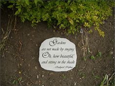 garden ornament or stepping stone with Rudyard Kipling gardening quote ...