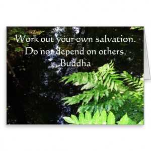 Zen Buddhist inspirational quote Greeting Cards